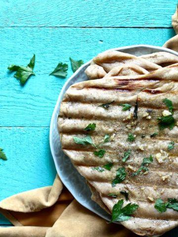 grilled garlic naan bread recipe