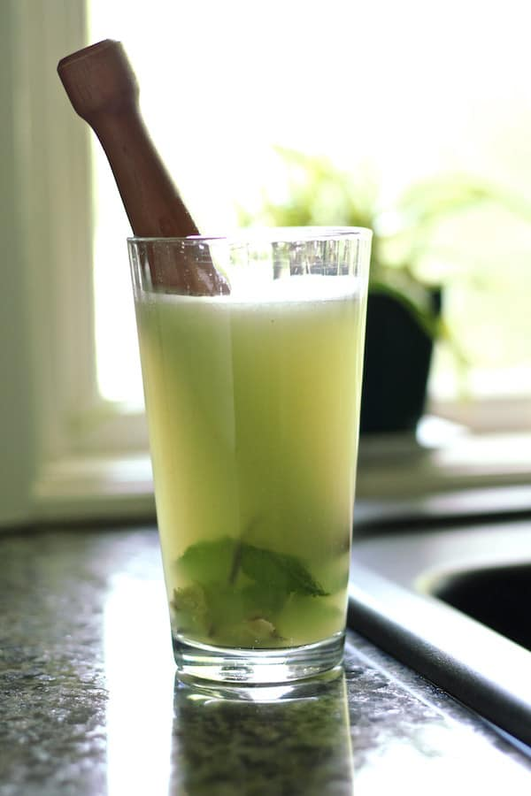 Cucumber rosewater mocktail is SO refreshing and a healthy drink recipe!