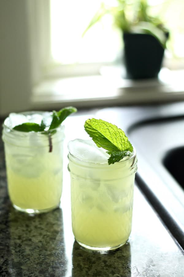 Cucumber rosewater mocktail is a healthy summer drink recipe