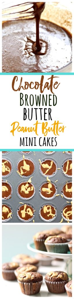 Try these rich, yet spongy little chocolate browned butter cupcakes for an easy treat that's gluten free and comes to together in about 35 minutes!