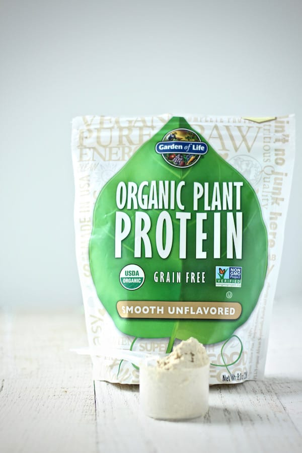 Organic plant protein powder is the perfect addition to smoothies for added nutrtion. #healthy #glutenfree #paleo #recipe