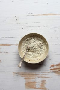 Healthy Caesar dressing mixed in a bowl