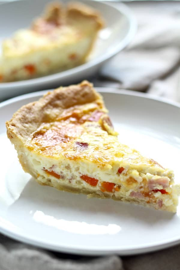 This tasty French beer quiche is so unique...and buttery and flaky!