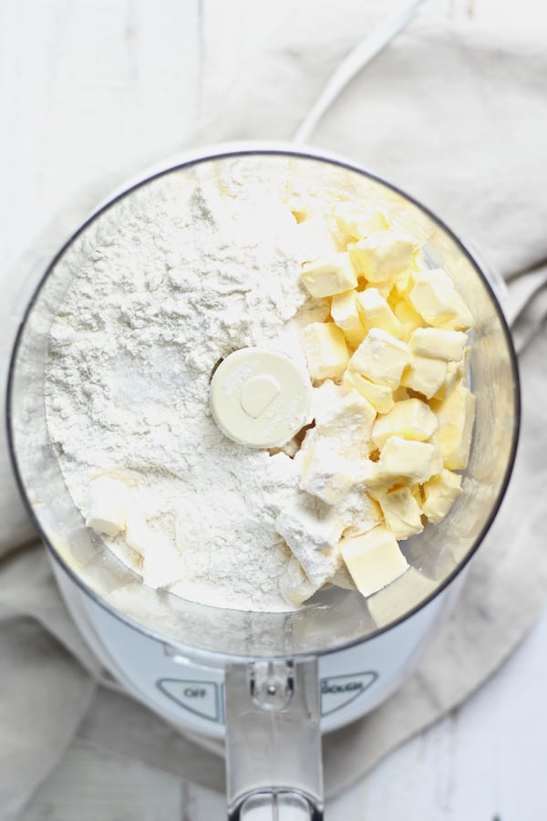 Butter and flour in pie crust
