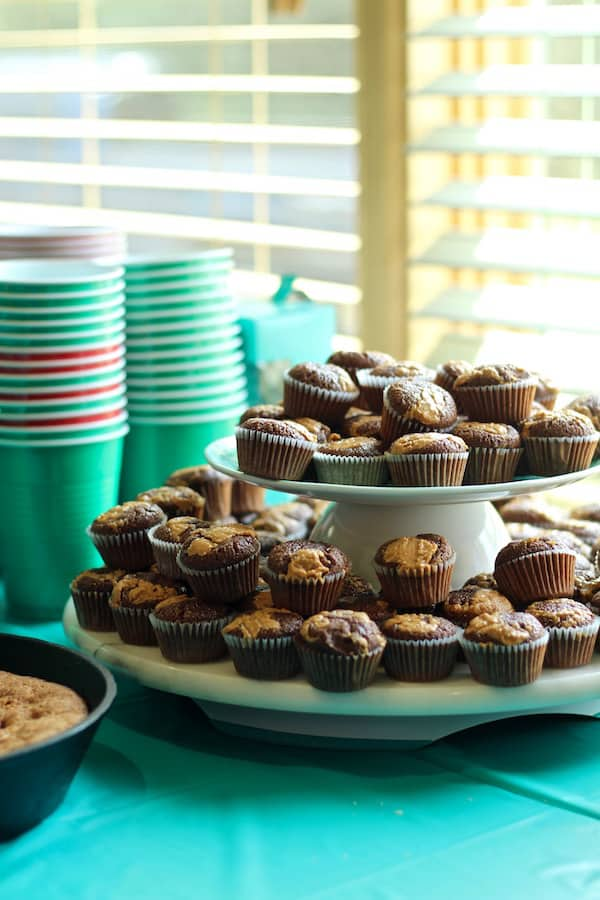 Chocolate browned butter peanut butter cupcakes
