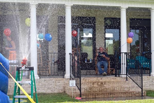 Fire hydrant water sprinkler for kids!