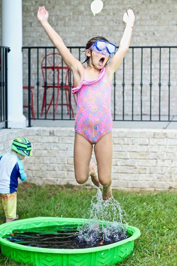 jumping girl birthday party