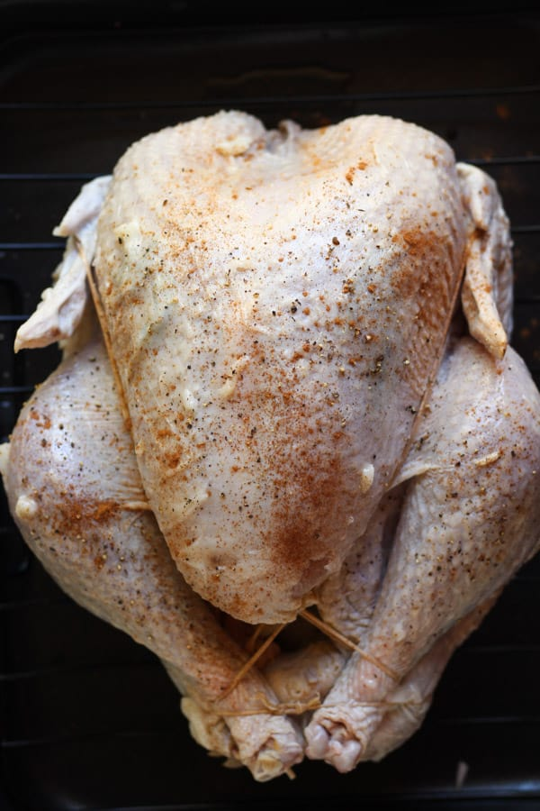 Epic duck fat roasted turkey seasoned