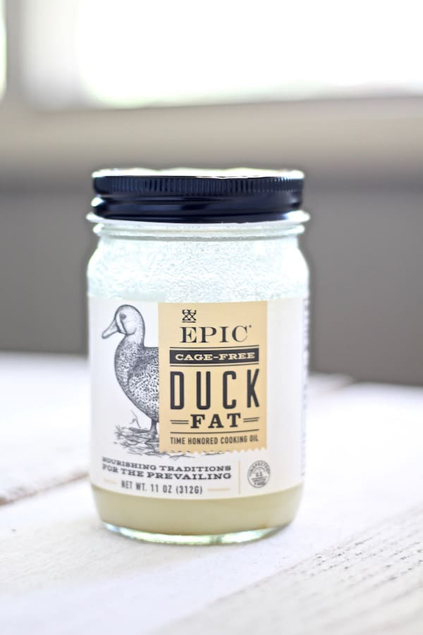 Epic duck fat is by far my favorite fat to use for roasting turkey and chicken recipes
