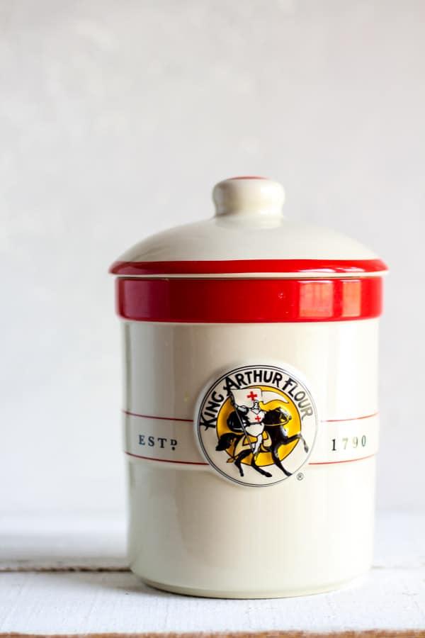 King Arthur Flour Sourdough crock set