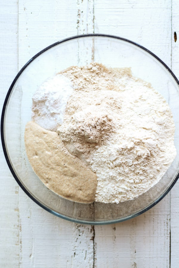 Sourdough Spelt Biscuit dough ingredients