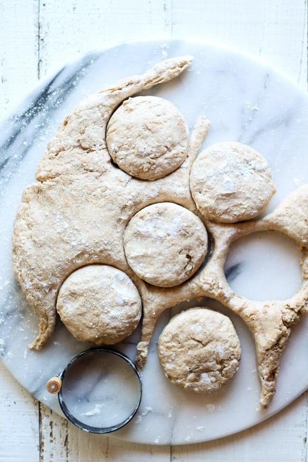 Sourdough Biscuits cut