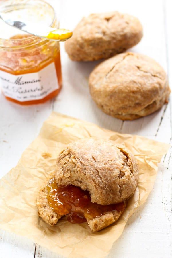 Sourdough Spelt Biscuits baked