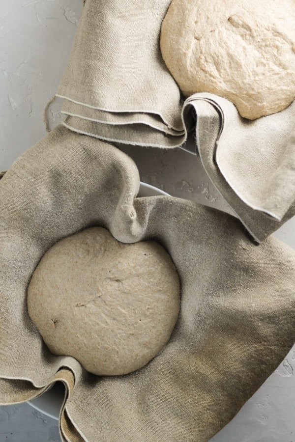 Spurdough honey spelt bread dough fermenting
