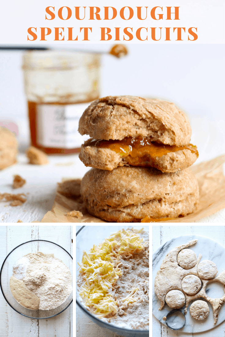 Sourdough Spelt Biscuits can be made overnight and baked in the morning for an easy and delicious breakfast! #baking #biscuits via @bessiebakes