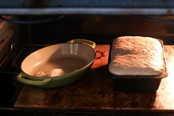 sourdough cinnamon raisin bread baking