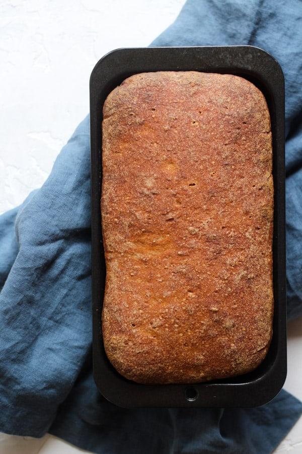 sourdough cinnamon raisin bread baked