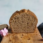 Buttery Sourdough Spelt Brioche Bread sliced