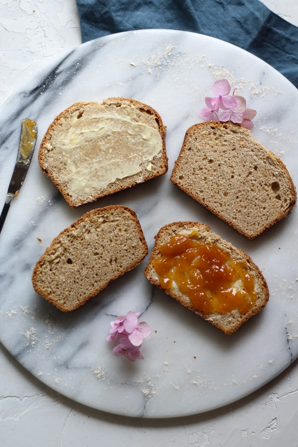 Buttery Sourdough Spelt Brioche Bread Toast