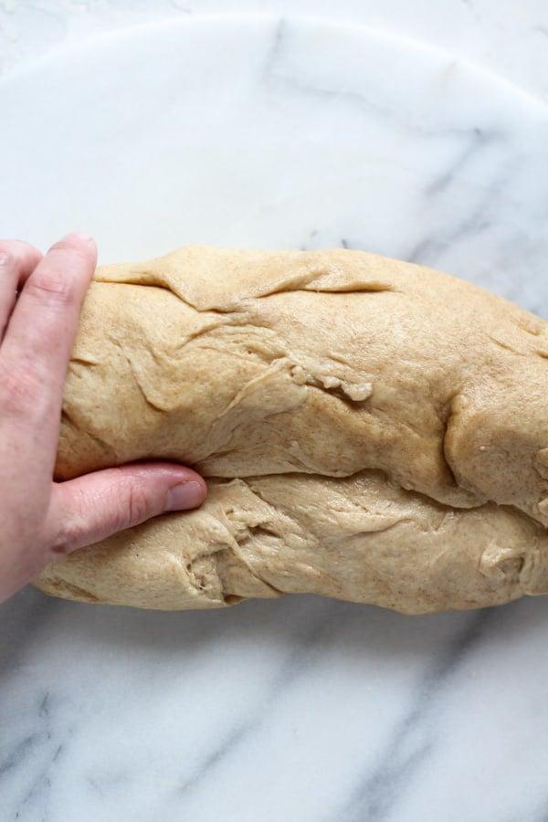 How to shape Sourdough Spelt Brioche Bread