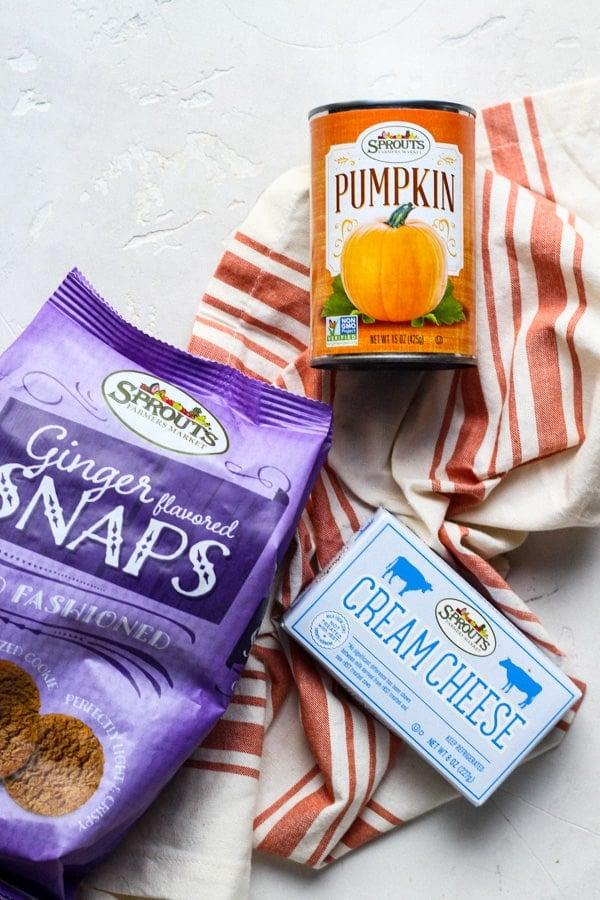 Ingredients for Cream Cheese Pumpkin Pie