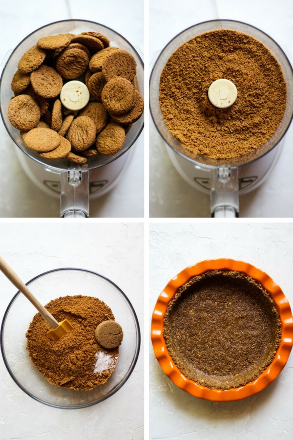 How to make a gingersnap crust, perfect for pumpkin pie!