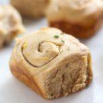 Sourdough Spelt Brioche Garlic Rosemary Rolls baked to perfection