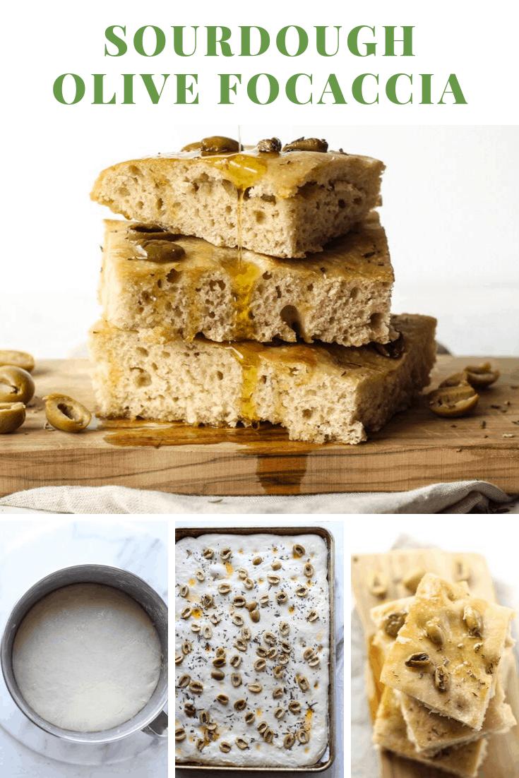 Sourdough Olive Focaccia Bread