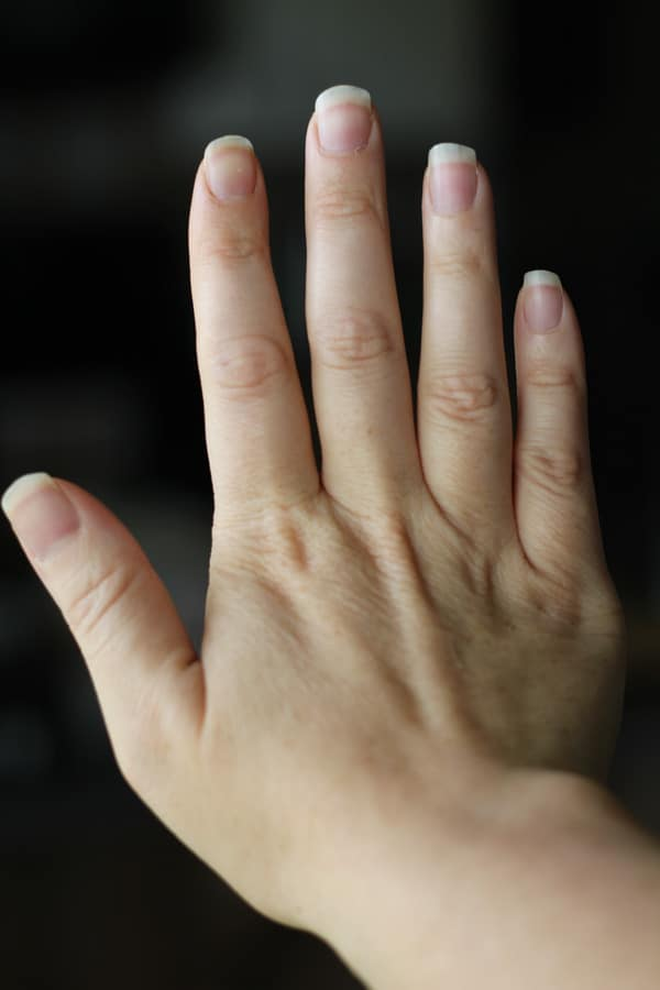 Fingernails after being on the bone broth diet for 3 weeks