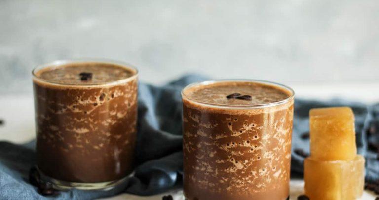 Iced Chocolate Coffee Bone Broth Smoothie