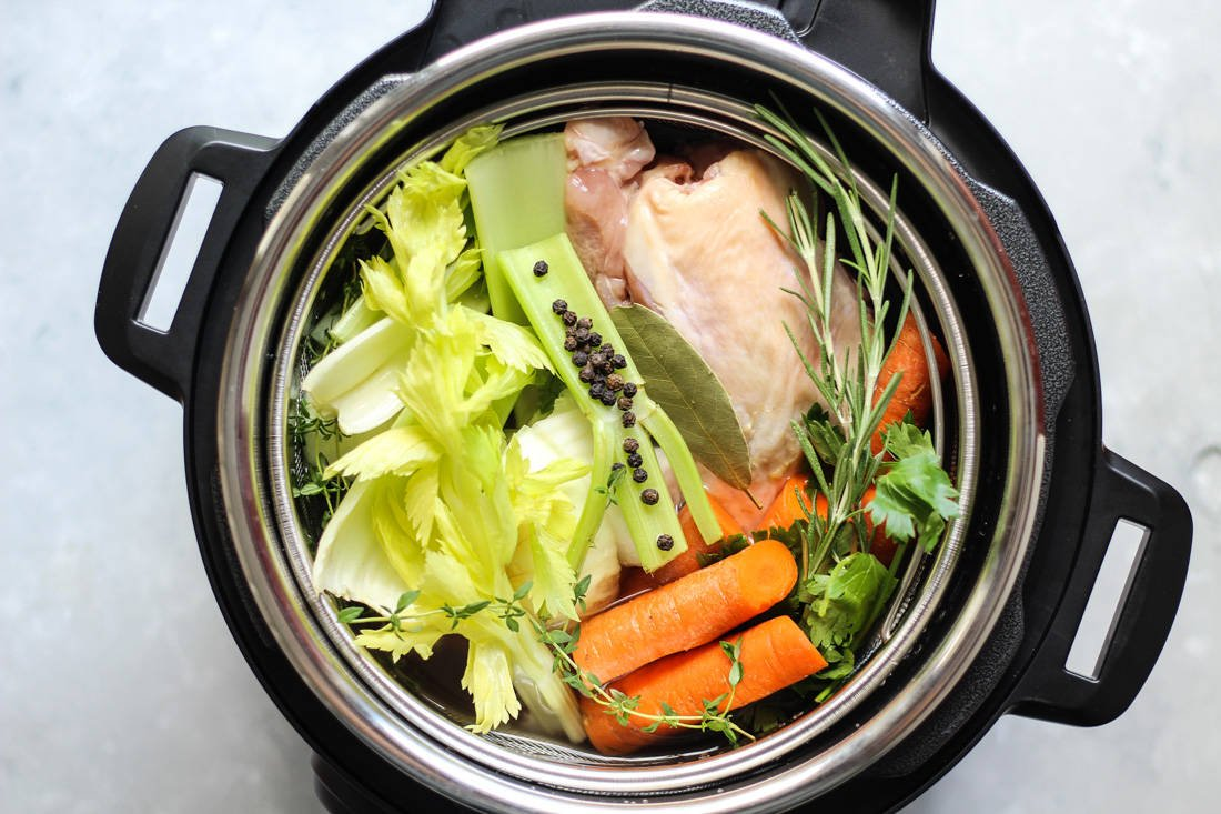 Instant pot chicken bone broth recipe