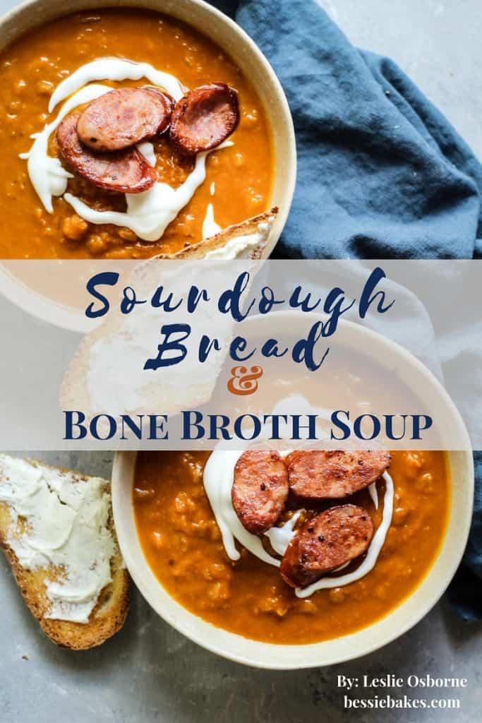 Sourdough Bread and Bone Broth Soup Recipes ebook cover