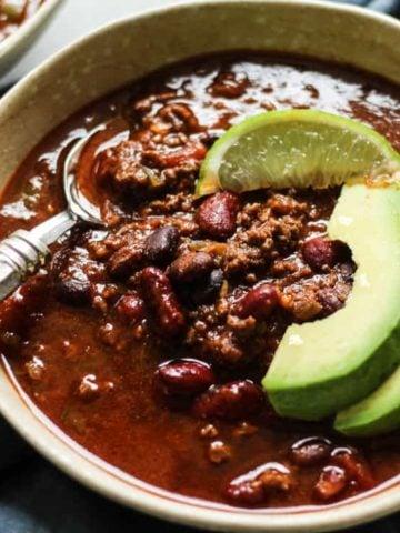 Instant pot chili recipe with bone broth