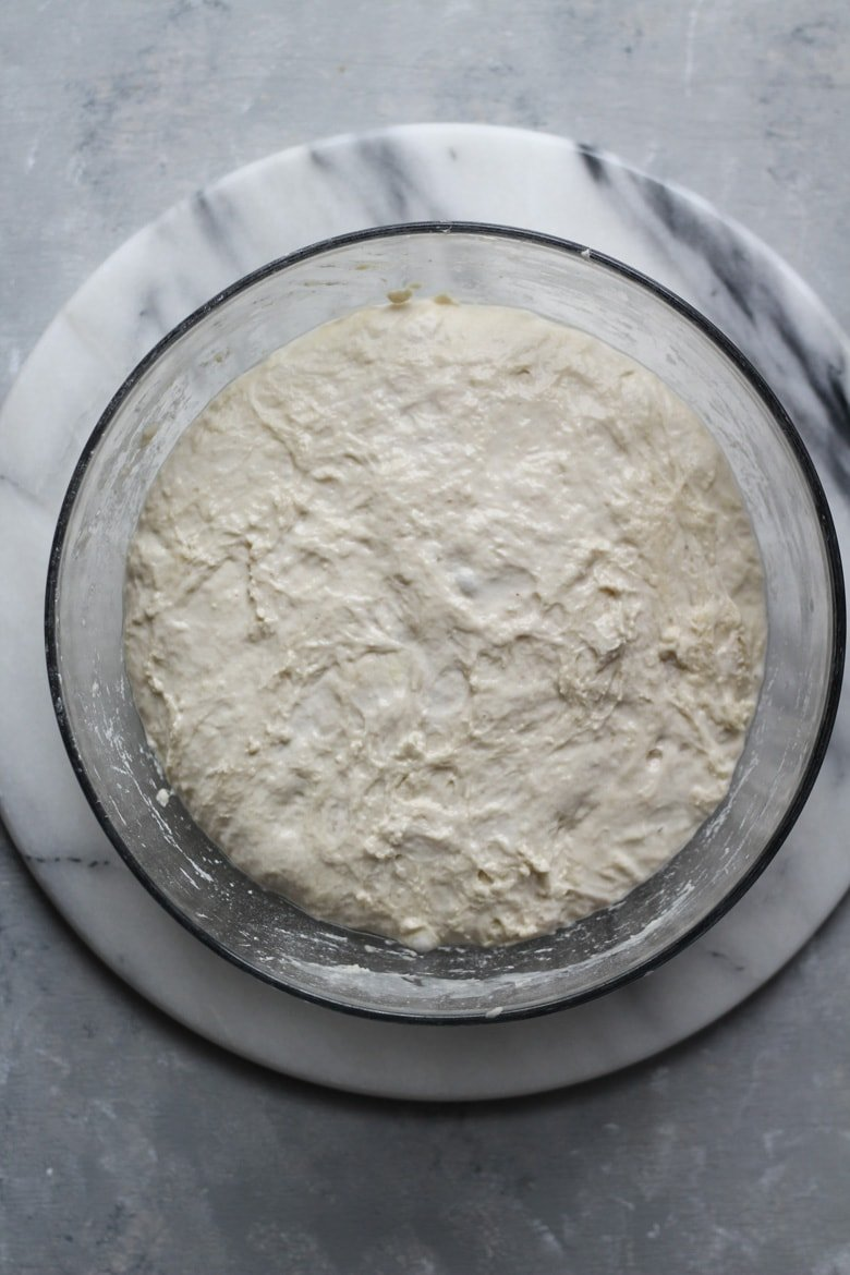Sourdough Bread recipe fermenting for 8 to 12 hours