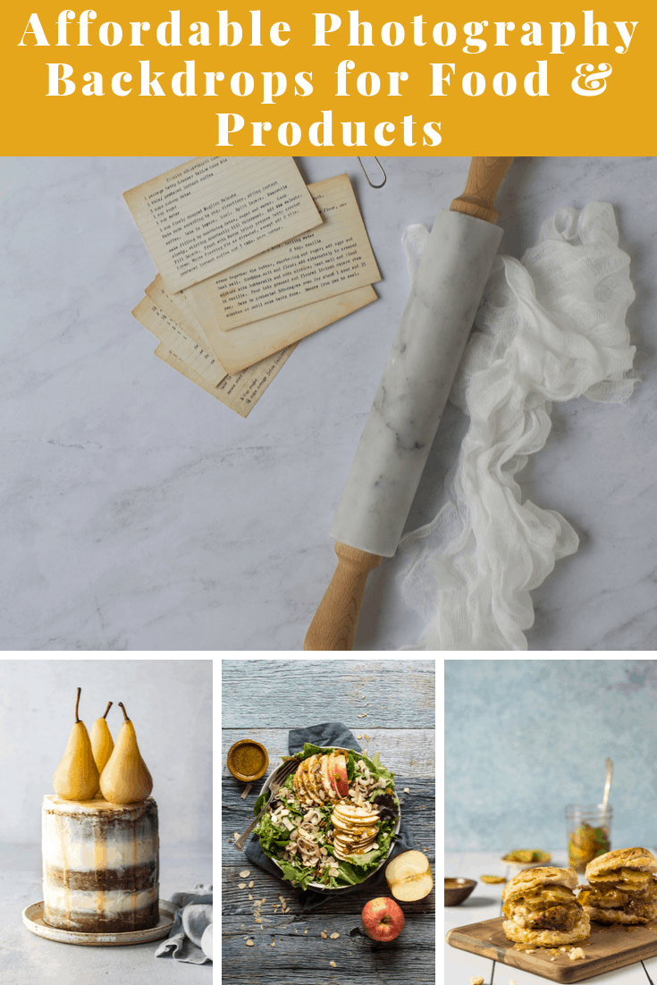The BEST photography backdrops and backgrounds for food & products at an affordable price. #photography  via @bessiebakes