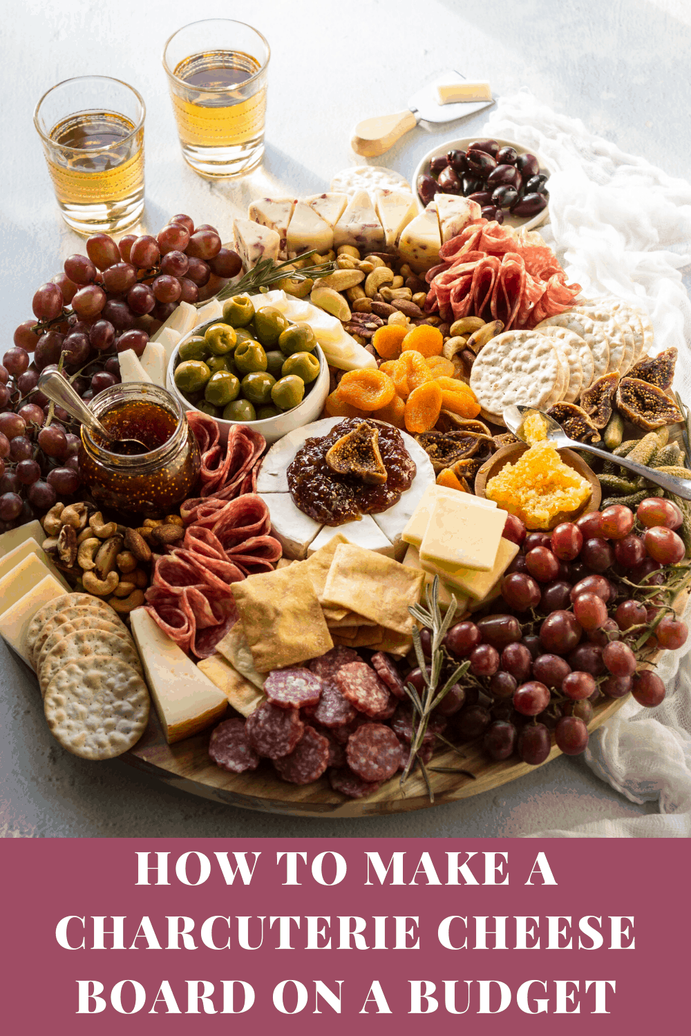 How to make an epic charcuterie cheese board on a budget via @bessiebakes