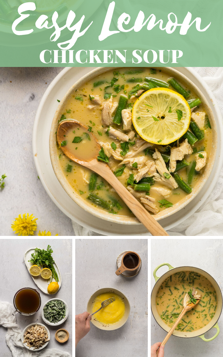 This easy lemon chicken soup recipe is ready in under 30 minutes!  #souprecipes  via @bessiebakes