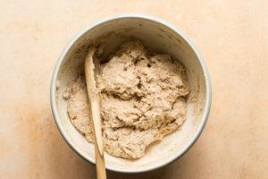 Sourdough discard biscuit dough in a bowl
