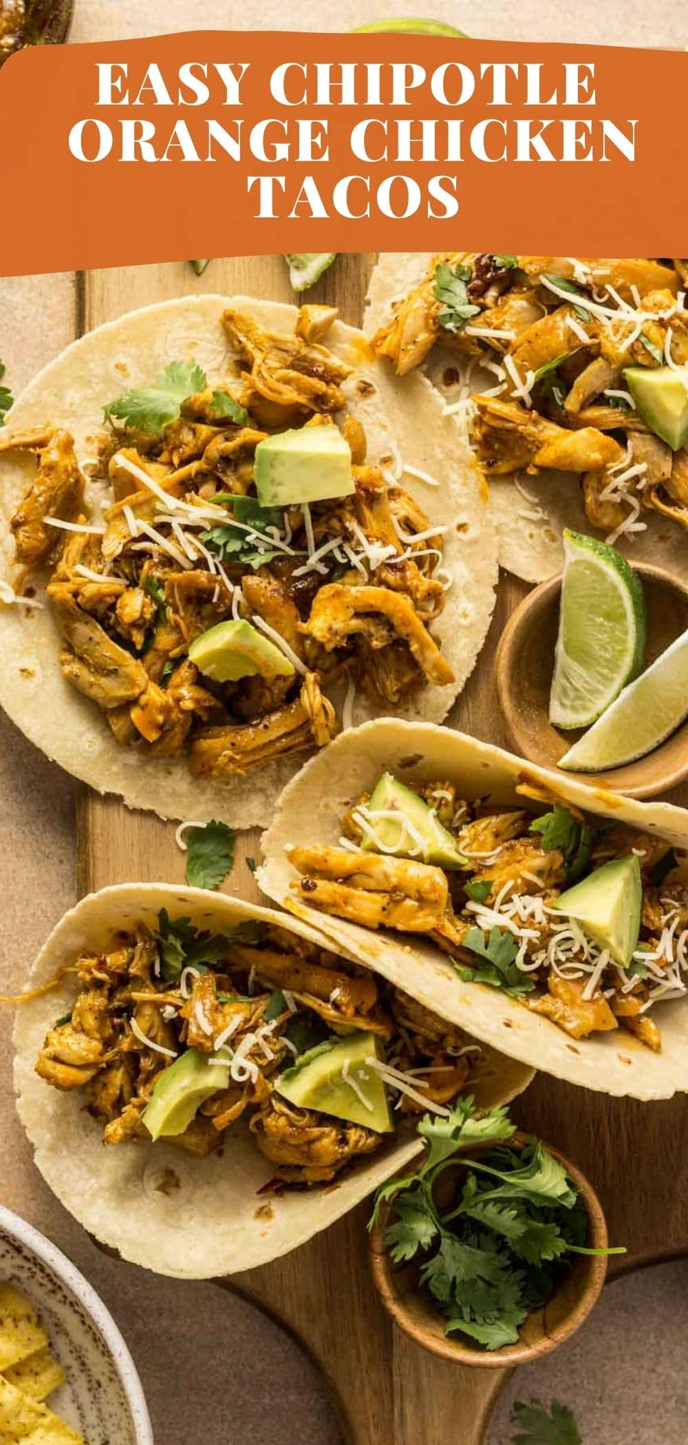 These easy chipotle orange chicken tacos will be your new favorite way to make tacos! via @bessiebakes