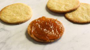 apricot jam on shortbread