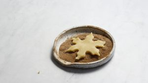 Almond shortbread cookie in chai spice