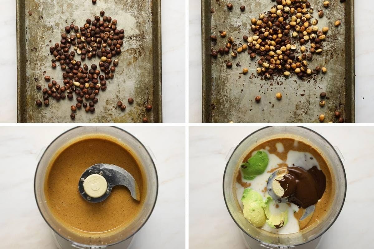 Avocado nutella steps grid