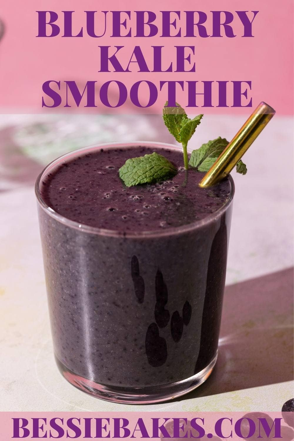 This smoothie will have you feeling super in just a few sips -- and we have blueberries to thank for that! The antioxidant-rich superfood is not only a delicious addition to this drink, but also brings a beautiful, vibrant purple perfect for sneaking some kale into your morning routine. via @bessiebakes