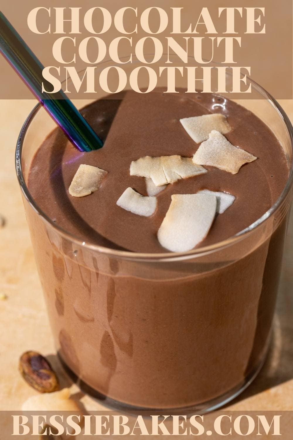 This smoothie is perfect to the last sip! While being high in good fats, it's also low in sugar and still so rich and delicious that you'll be craving more. via @bessiebakes