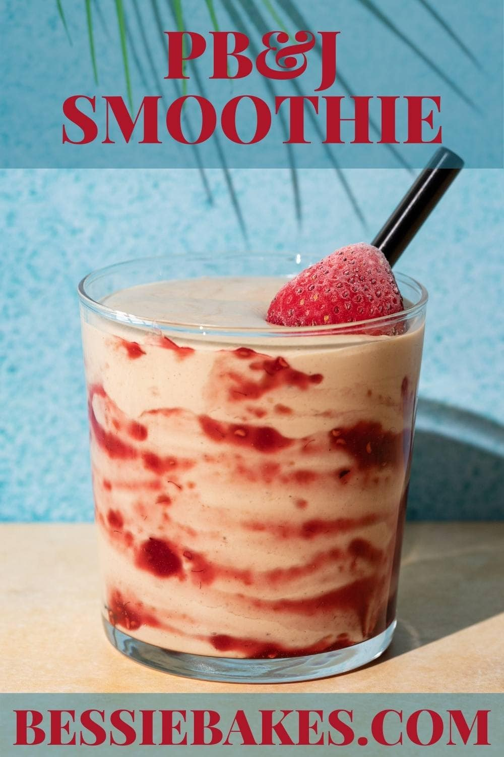 Not only is this smoothie beautiful with its jelly swirl, it's packed with protein. This drink works hard to keep you feeling fuller longer while also avoiding the sugar crash of a real PB&J.  via @bessiebakes